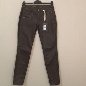 Skinny Leg 678 Brown Faux Leather Pants